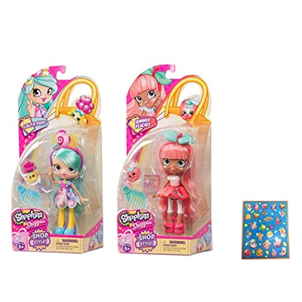 ショップキンズ おもちゃ 人形 ドール フィギュア Shopkins Season 10 Shoppies Lolita Pops and Summer Peaches Bundle with Bonus Sticker Sheet
