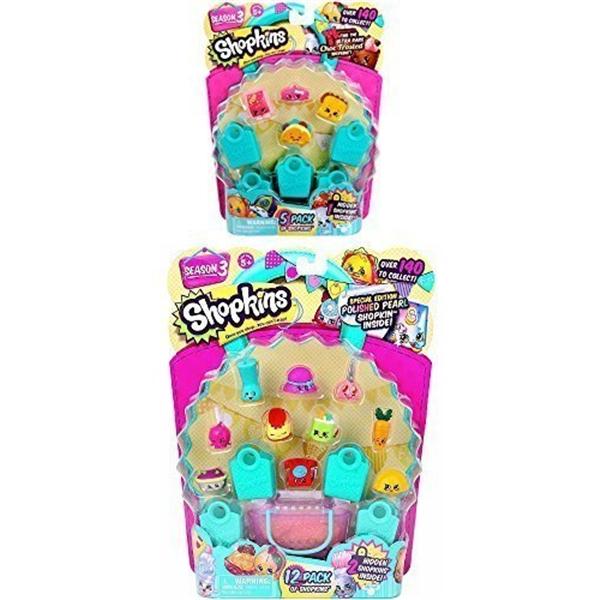 ショップキンズ おもちゃ 人形 ドール フィギュア Shopkins Season 3 Bundle - 1 12-pack and 1 5-pack