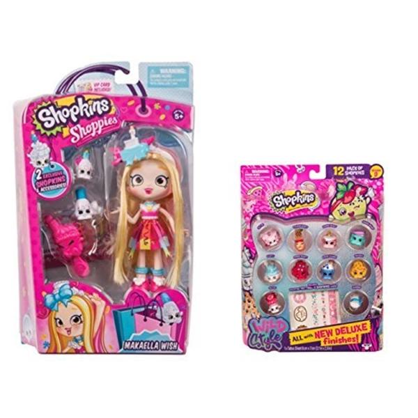 新しい到着 ショップキンズ おもちゃ 人形 ドール フィギュア おもちゃ Shopkins Wild ドール Style styles) Season 9 Wild Style Makaella Wish Shoppie Doll and 12 Pack (random styles) Bundle, KEYUCA:9f75bb94 --- canoncity.azurewebsites.net