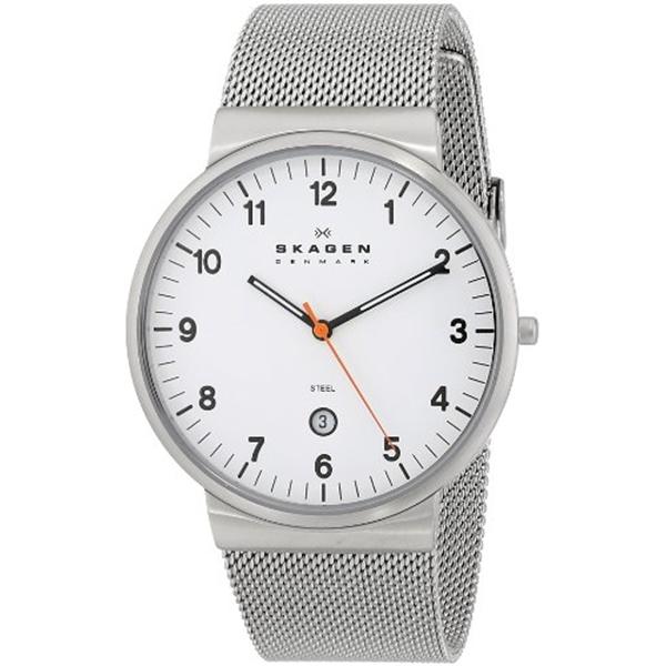 スカーゲン Skagen 腕時計 SKAGEN Klassik Mens Three-Hand Date Stainless Steel Watch