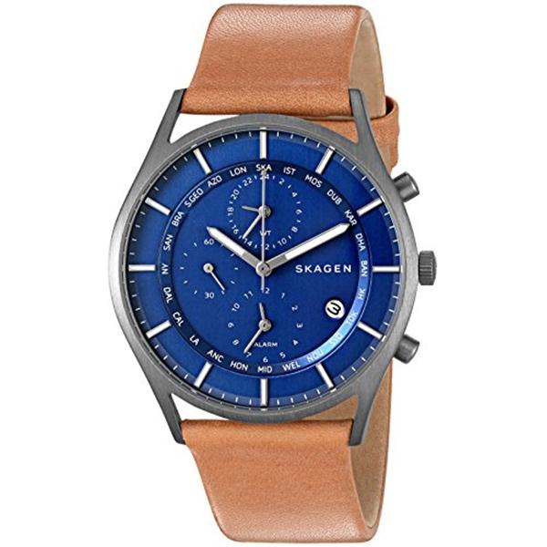 スカーゲン Skagen 腕時計 Skagen Men's SKW6285 Holst Light Brown Titanium Leather Watch