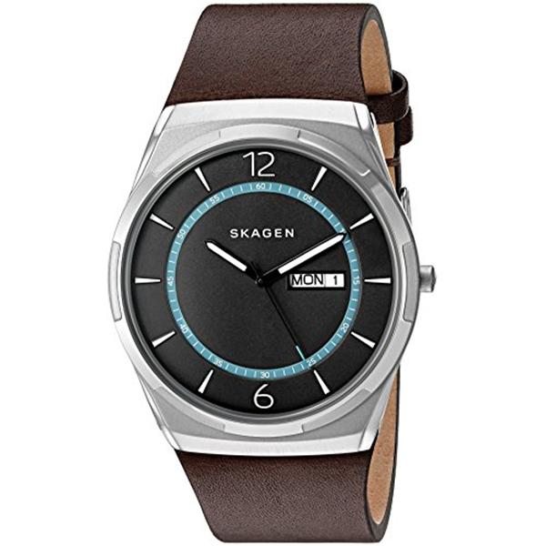 スカーゲン Skagen 腕時計 Skagen Men's SKW6305 Melbye Dark Brown Titanium Leather Watch
