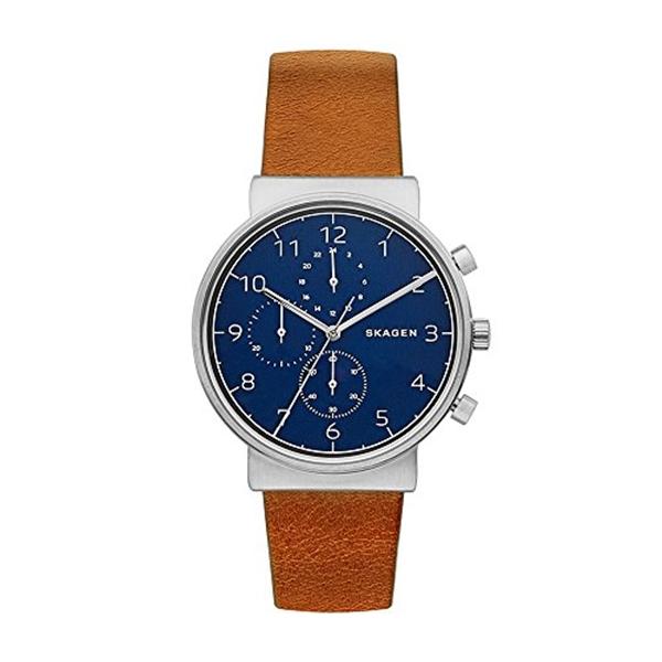 スカーゲン Skagen 腕時計 Skagen Men's SKW6358 Ancher Brown Leather Chronograph Watch