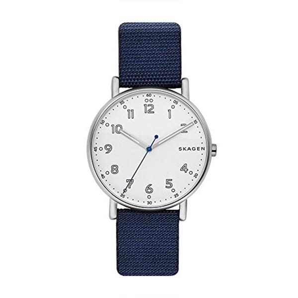 スカーゲン Skagen 腕時計 Skagen Men's SKW6356 Signatur Blue Nylon Watch