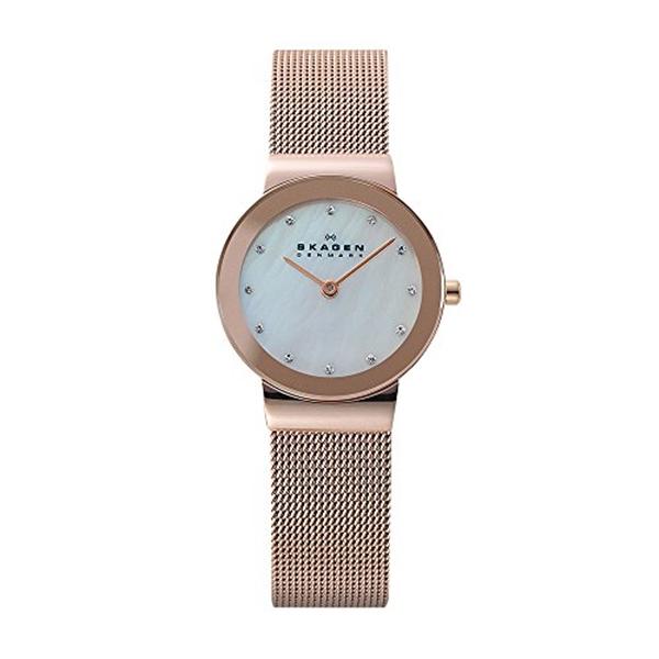 スカーゲン Skagen 腕時計 Skagen Women's 358SRRD Freja Rose Gold Mesh Watch