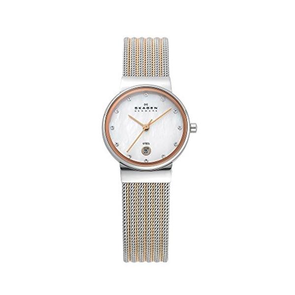 スカーゲン Skagen 供え 腕時計 Women's 355SSRS Ancher Two Rose Tone Watch Silver Mesh 高価値 and