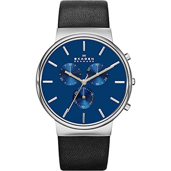 スカーゲン Skagen 腕時計 Skagen Men's SKW6105 Ancher Black Leather Watch