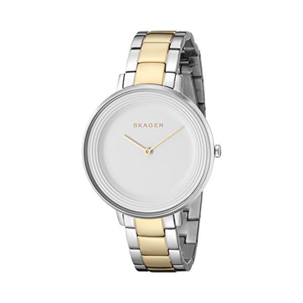 スカーゲン Skagen 腕時計 Skagen Women's SKW2339 Ditte Two Tone Silver and Gold Link Watch