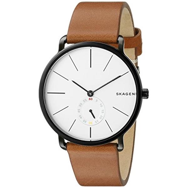 スカーゲン Skagen 腕時計 Skagen Men's SKW6216 Hagen Dark Brown Leather Watch