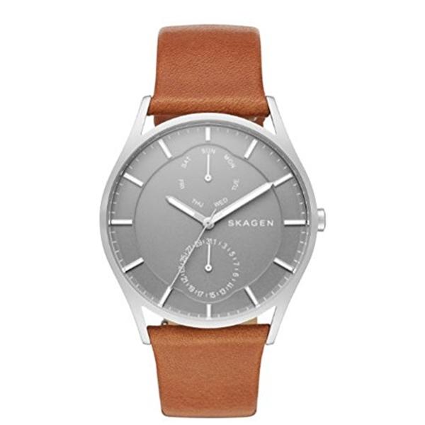 スカーゲン Skagen 腕時計 Skagen Men's SKW6264 Holst Dark Brown Leather Watch