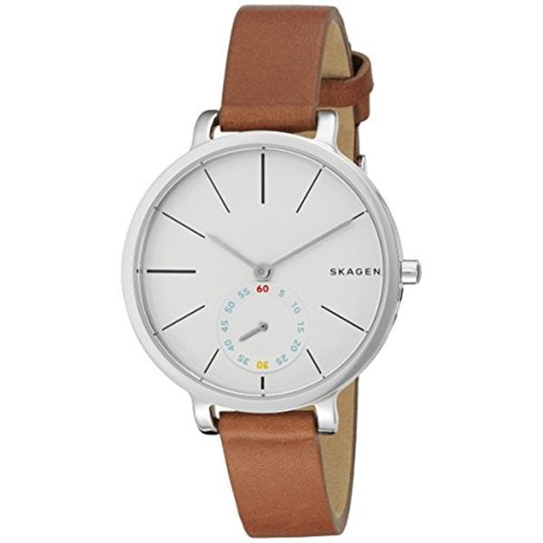 スカーゲン Skagen 腕時計 Skagen Women's SKW2434 Hagen Dark Brown Leather Watch