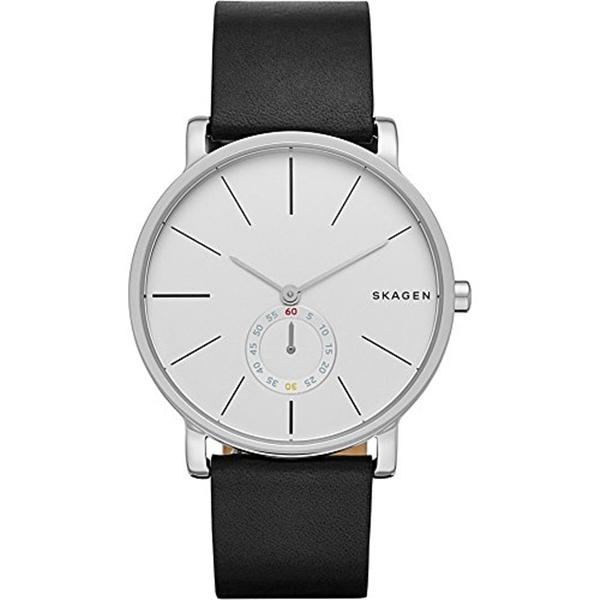 スカーゲン Skagen 腕時計 Skagen Men's SKW6274 Hagen Black Leather Watch