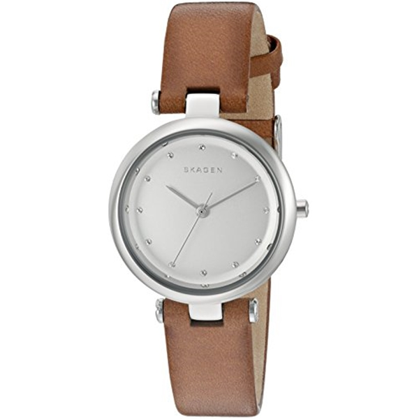 スカーゲン Skagen 腕時計 Skagen Women's SKW2458 Tanja Dark Brown Leather Watch