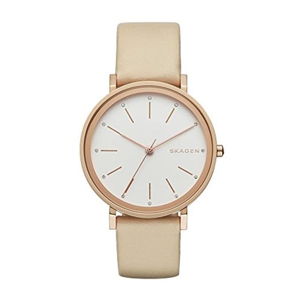 スカーゲン Skagen 腕時計 Skagen Women's SKW2489 Hald Beige Leather Watch