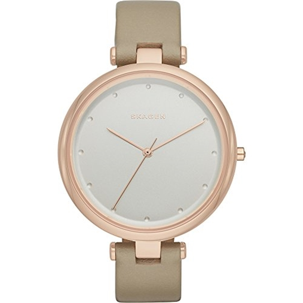 スカーゲン Skagen 腕時計 Skagen Women's SKW2484 Tanja Beige Leather Watch