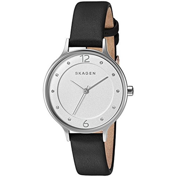 スカーゲン Skagen 腕時計 Skagen Women's SKW2496 Anita Black Leather Watch