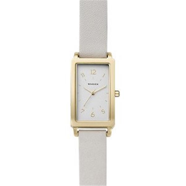 スカーゲン Skagen 腕時計 Skagen Women's SKW2566 Hagen White Leather Watch