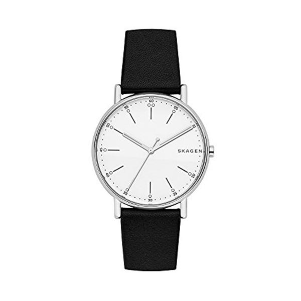 スカーゲン Skagen 腕時計 Skagen Men's SKW6353 Signatur Black Leather Watch