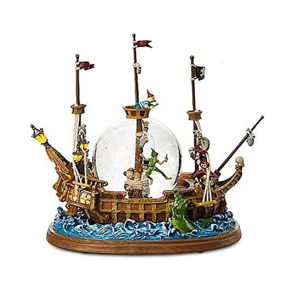 スノードーム ディズニー ピーターパン ティンカーベル フック船長 クリスマス プレゼント サンタクロース ツリー Disneyland Paris Peter Pan Pirate Ship Snow Globe …