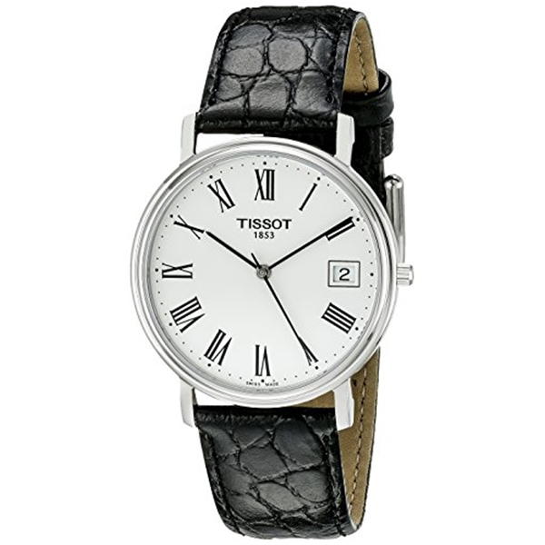 "ティソ Tissot 腕時計 メンズ 時計 Tissot Men""s T52142113 T-Classic Desire Stainless Steel Watch With Black Leather Band"