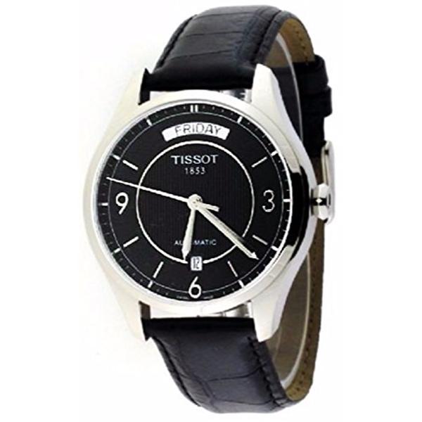 ティソ Tissot 腕時計 メンズ 時計 Tissot T-One Automatic Day/Date Strap Black Dial Men's Watch #T038.430.16.057.00