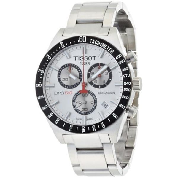 ティソ Tissot 腕時計 メンズ 時計 Tissot Men's T0444172103100 T-Sport PRS516 Quartz Silver Chronograph Dial Watch