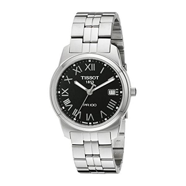 ティソ Tissot 腕時計 メンズ 時計 Tissot Men's T0494101105301 PR 100 Black Dial Bracelet Watch