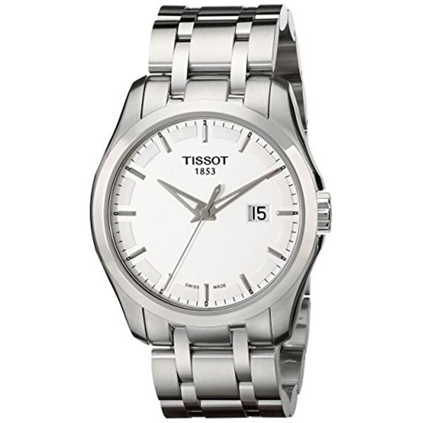 ティソ Tissot 腕時計 メンズ 時計 Tissot Men's T0354101103100 Couturier Stainless Steel Bracelet Watch