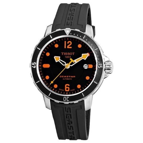ティソ マート Tissot 日本 腕時計 メンズ 時計 Men's Automatic SeaStar T0664071705701 Dial Watch Black