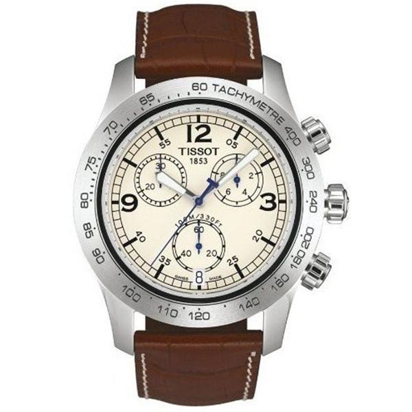 ティソ Tissot 腕時計 メンズ 時計 TISSOT T-SPORT V8 T36131672 GENTS BROWN LEATHER STAINLESS STEEL CASE DATE WATCH