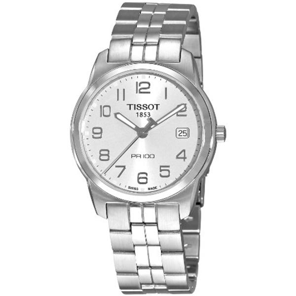 ティソ Tissot 腕時計 メンズ 時計 Tissot T-Classic PR 100 Silver Dial Men's watch #T049.410.11.032.01
