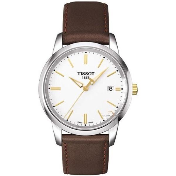 ティソ Tissot 腕時計 メンズ 時計 Tissot Men's Dream T033.410.26.011.01 Brown Leather Swiss Quartz Watch