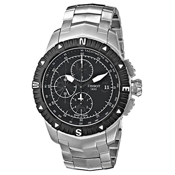 ティソ Tissot 腕時計 メンズ 時計 Tissot Men's 'T Navigator' Black Dial Stainless Steel Automatic Watch T062.427.11.057.00