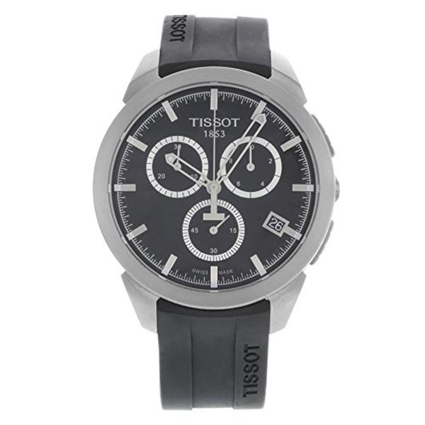 ティソ Tissot 腕時計 メンズ 時計 Tissot T-sport Titanium Black Dial Rubber Mens Watch T0694174705100