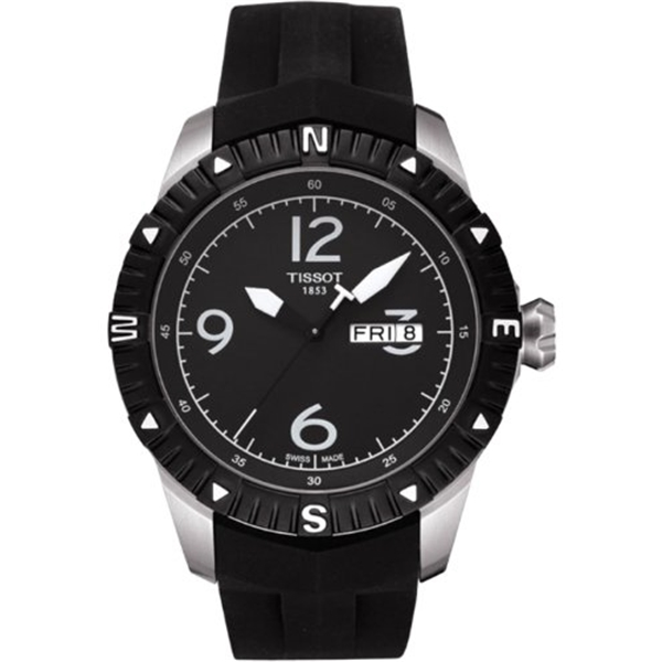 ティソ Tissot 腕時計 メンズ 時計 Tissot T0624301705700 Men's T-Navigator Automatic Black Rubber Black Dial Stainless Steel Watch