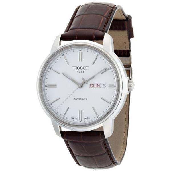 ティソ Tissot 腕時計 メンズ 時計 Tissot Automatic III T0654301603100 Mens Watch - Brown leather band