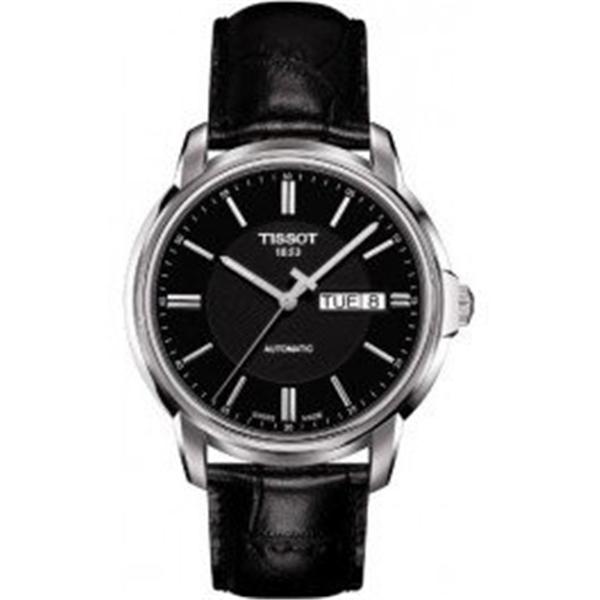 ティソ Tissot 腕時計 メンズ 時計 Tissot Mens Automatics III Black Dial Analog Watch T0654301605100