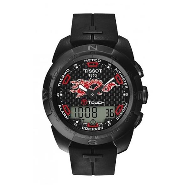 ティソ Tissot 腕時計 メンズ 時計 Tissot Men's 'T-Touch Expert' Swiss Quartz Titanium and Rubber Casual Watch, Color:Black (Model: T0134204720101)
