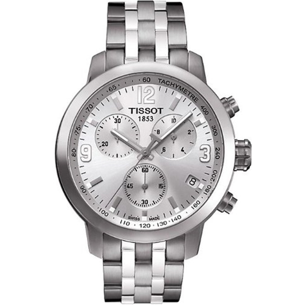 ティソ Tissot 腕時計 メンズ 時計 Tissot PRC 200 Chronograph Mens Watch - Stainless Steel