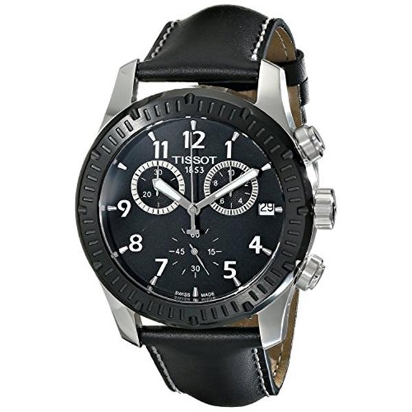 """ティソ Tissot 腕時計 メンズ 時計 Tissot Men""""s T0394172605700 V8 Analog Display Swiss Quartz Black Watch"""