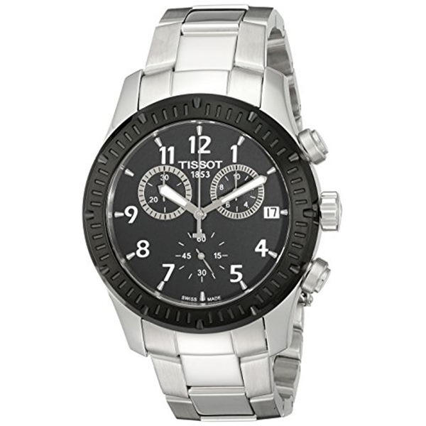 ティソ Tissot 腕時計 メンズ 時計 Tissot Men's T0394172105700 V8 Analog Display Swiss Quartz Silver Watch