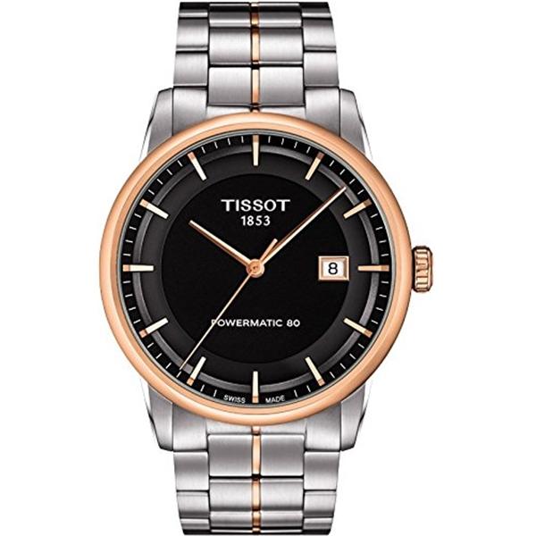 ティソ Tissot 腕時計 メンズ 時計 Tissot Men's T0864072205100 Luxury Analog Display Swiss Automatic Two Tone Watch