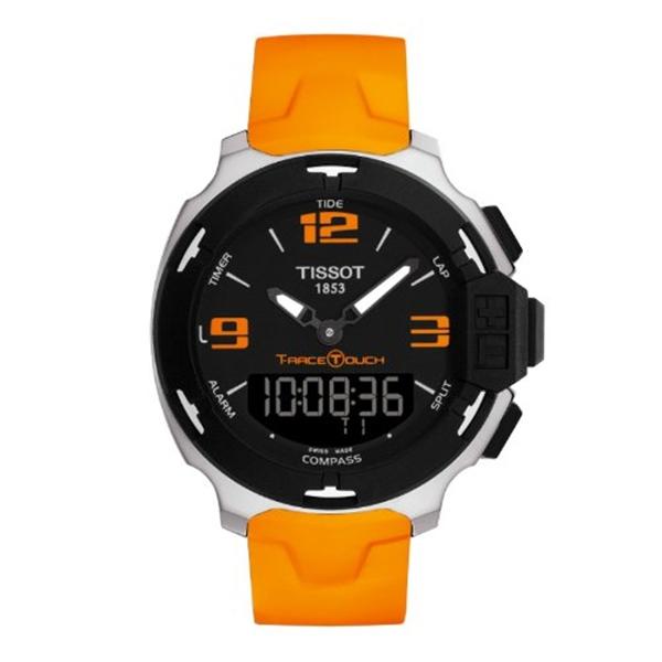 【超安い】 ティソ Tissot 腕時計 Dial メンズ Silicone 時計 Tissot Swiss Men's T-Touch T081.420.17.057.02 Orange Silicone Swiss Quartz Watch with Black Dial, タイムリーファッションストア:39a5e6a8 --- eraamaderngo.in