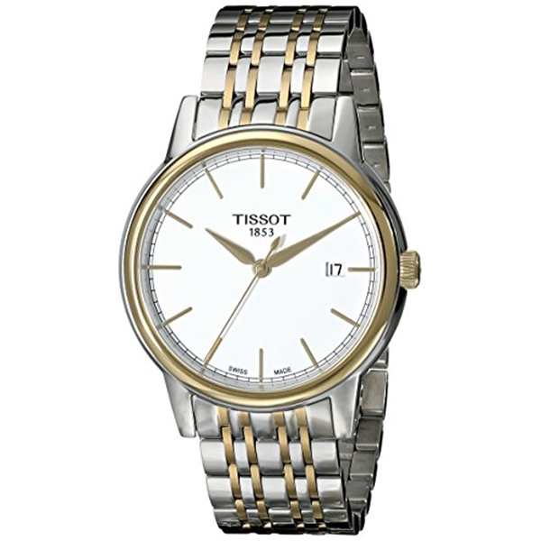 ティソ Tissot 腕時計 メンズ 時計 Tissot Men's T0854102201100 Carson Analog Display Swiss Quartz Two Tone Watch
