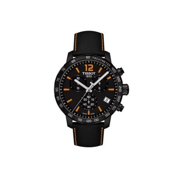 ティソ Tissot 腕時計 メンズ 時計 Tissot Quickster Chronograph Black Leather Men's watch #T095.417.36.057.00