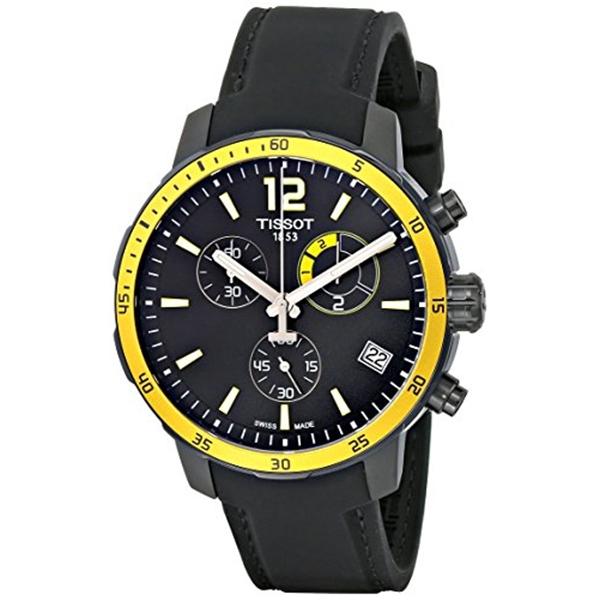ティソ Tissot 腕時計 メンズ 時計 Tissot Men's T0954493705700 Quickster Analog Display Swiss Quartz Black Watch