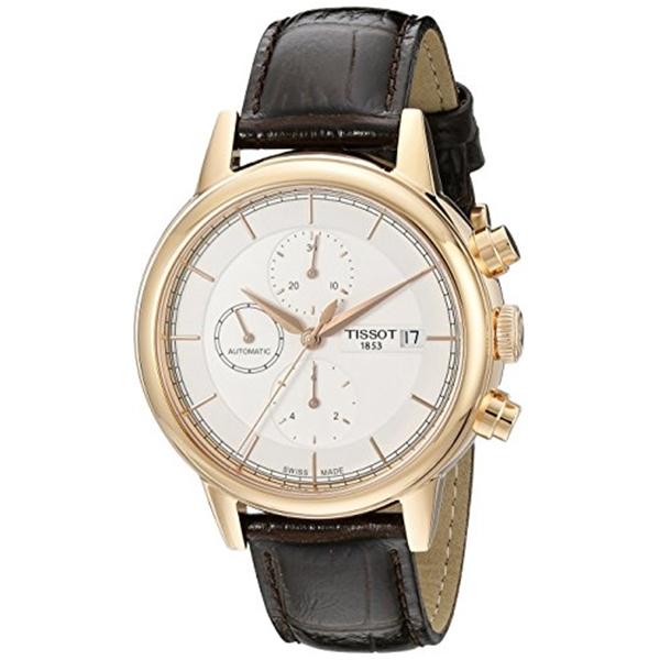 ティソ Tissot 腕時計 メンズ 時計 Tissot Men's T0854273601100 Carson Swiss Automatic Watch With Brown Leather Band