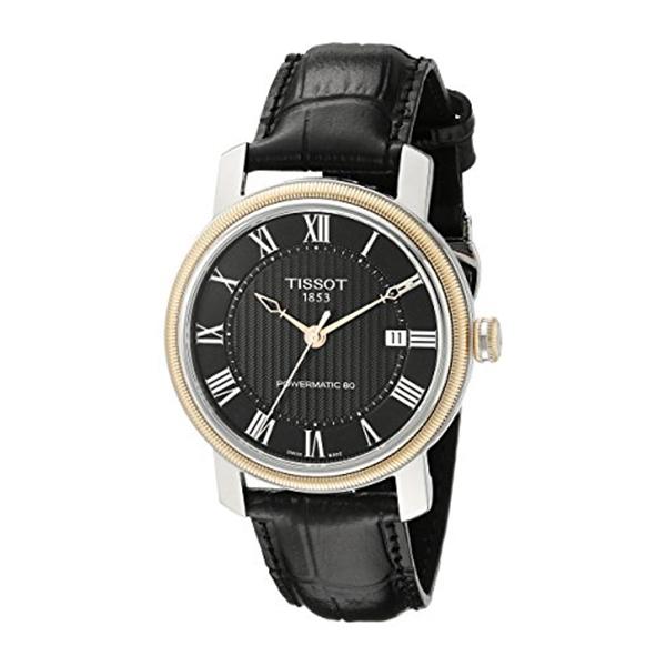 ティソ Tissot 腕時計 メンズ 時計 Tissot Men's T0974072605300 Bridgeport Analog Display Swiss Automatic Black Watch