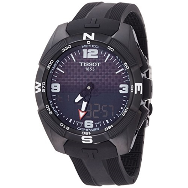 ティソ Tissot 腕時計 メンズ 時計 Men's 'T-Touch Expert' Swiss Silicone ファクトリーアウトレット Dress Model: Quartz Color:Black メイルオーダー and T0914204705701 Watch Titanium