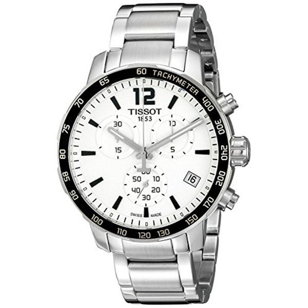 """ティソ Tissot 腕時計 メンズ 時計 Tissot Men""""s T0954171103700 Quickster Analog Display Swiss Quartz Silver Watch"""